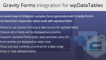 Download Gravity Forms integration for wpDataTables  - Free Wordpress Plugin