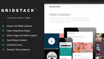 Download GridStack - Responsive Agency WordPress Theme Free