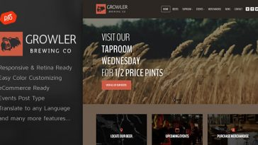 Download Growler v.3.0 - Brewery WordPress Theme Free