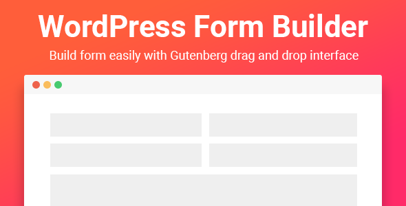 Download Gutenberg Form Builder   - Free Wordpress Plugin