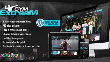 Download Gym Extream v.4.2 - Gym and Fitness Wordpress Theme Free