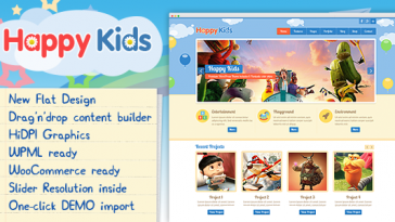 Download Happy Kids v.3.3.1 - Children WordPress Theme Free