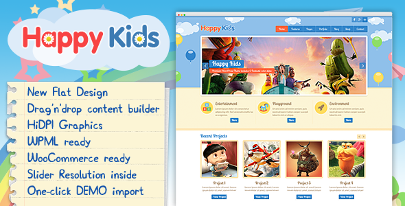 Download Happy Kids v.3.3.1 - Children WordPress Theme Free
