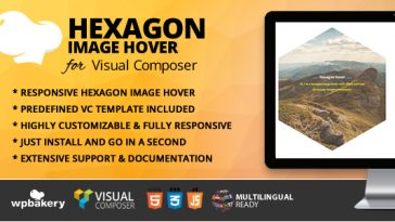Download Hexagon Image Hover Addon for WPBakery Page Builder (formerly Visual Composer)  - Free Wordpress Plugin