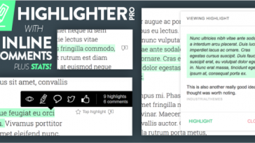 Download Highlighter Pro: A Medium.com-Inspired Text Highlighting and Inline Commenting Tool for WordPress  - Free Wordpress Plugin