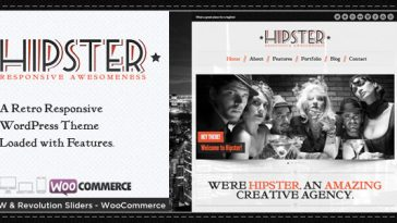 Download Hipster v.4.05 - Retro Responsive WordPress Theme Free