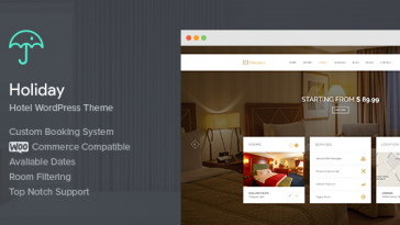 Download Holiday v.1.2.4 - Hotel WordPress Theme Free