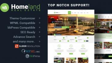 Download Homeland - Responsive Real Estate Theme for WordPress Free