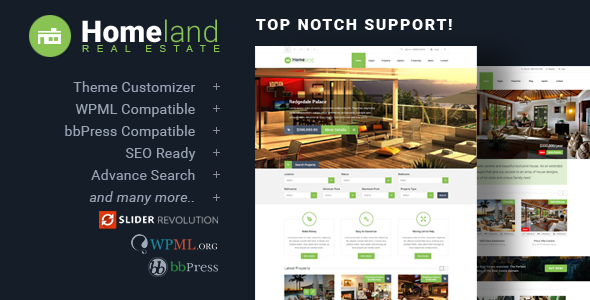 Download Homeland - Responsive Real Estate Theme for WordPress Free