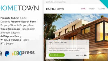 Download Hometown - Real Estate WordPress Theme Free