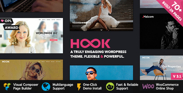 Download Hook v.5.5.2 - Superior WordPress Theme Free