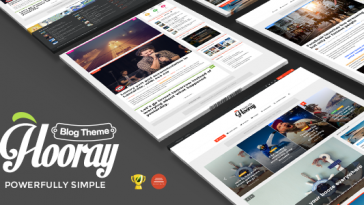 Download Hooray v.2.3.5 - Blog WordPress theme for Professional Writers Free