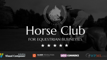 Download Horse Club - Equestrian WordPress Theme Free