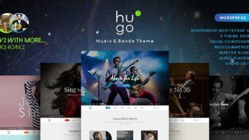 Download Hugo v.2.0.4 - Music / Artist / Singers / Bands WordPress Free
