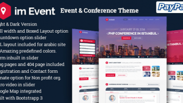 Download im Event v.3.1.9 - Event & Conference WordPress Theme Free