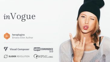 Download inVogue - WordPress Fashion Shopping Theme Free