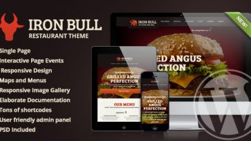 Download Iron Bull - Restaurant Wordpress Theme Free