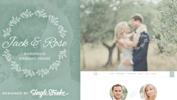 Download Jack & Rose v.1.5.5 - A Whimsical WordPress Wedding Theme Free