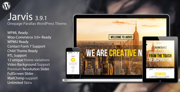 Download Jarvis - Onepage Parallax WordPress Theme Free