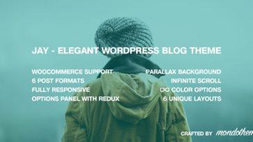 Download Jay v.4.5.2 - Elegant WordPress Blog Theme Free