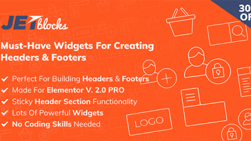Download JetBlocks the must-have headers & footers widgets for Elementor - Free Wordpress Plugin