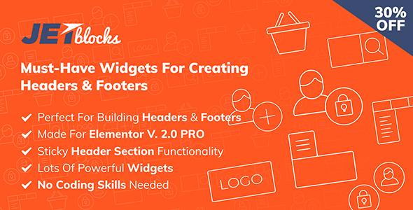 Download JetBlocks the must-have headers & footers widgets for Elementor - Free Wordpress Plugin