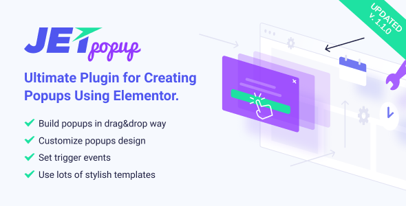 Download JetPopup Popup Addon for Elementor  - Free Wordpress Plugin