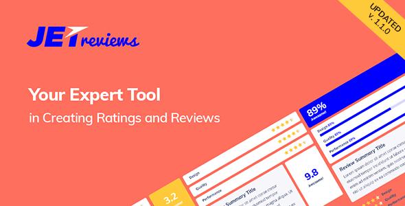 Download JetReviews Reviews Widget for Elementor Page Builder - Free Wordpress Plugin