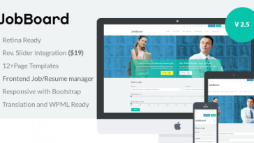 Download JobBoard - Responsive Recruitment Directory WordPress Theme Free