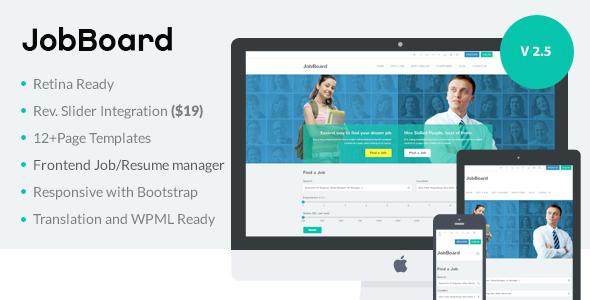 Download JobBoard - Responsive Recruitment Directory WordPress Theme Free