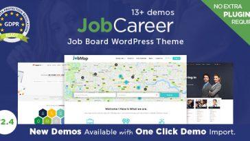 Download JobCareer v.4.9.6 - Job Board Responsive WordPress Theme Free
