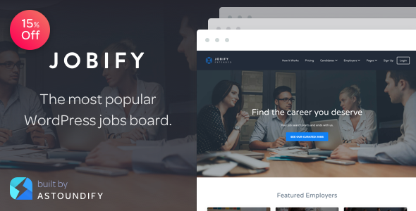Download Jobify - The Most Popular WordPress Job Board Theme Free
