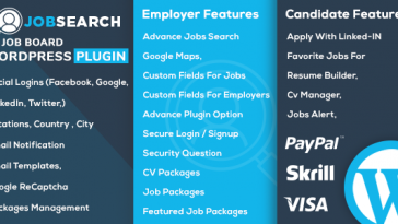 Download JobSearch WP Job Board WordPress Plugin  - Free Wordpress Plugin