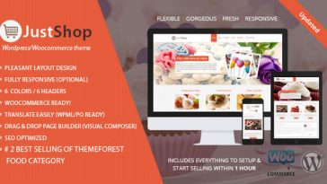 Download Justshop - Cake Bakery WordPress Theme Free