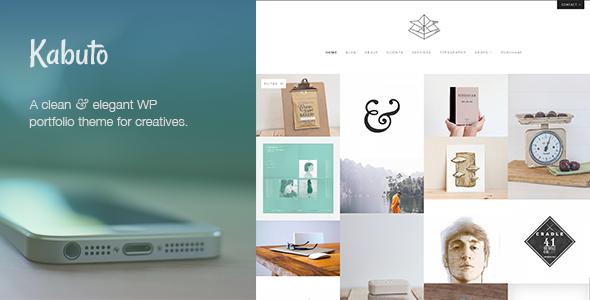 Download Kabuto - a clean, minimal & responsive WordPress creative theme with a fullscreen portfolio grid Free