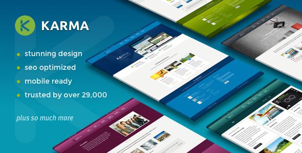 Download Karma - Responsive WordPress Theme Free
