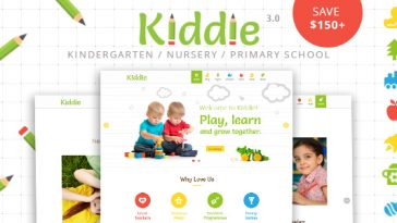 Download Kiddie v.3.6 - Kindergarten and Preschool WordPress Theme Free
