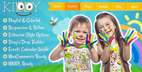 Download Kiddy v.3.3.1 - Children WordPress theme Free