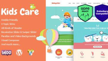 Download Kids Care - A Multi-Purpose Children WordPress Theme Free