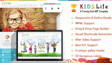 Download Kids Life v.4.9.8 - Children WordPress Theme Free