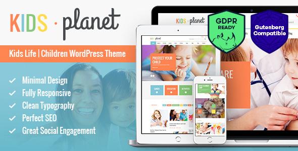 Download Kids Planet - A Multipurpose Children WordPress Theme Free