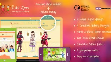 Download Kids Zone v.4.9.8 - Children & Kids WordPress Theme Free