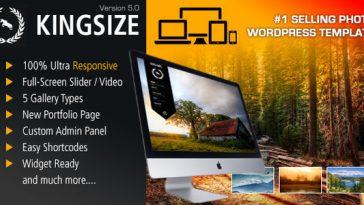 Download KingSize v.5.0.1 - Fullscreen Photography Theme Free