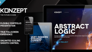 Download Konzept - Fullscreen Portfolio WordPress Theme Free