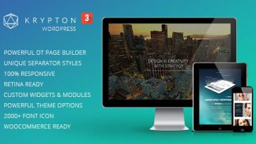 Download Krypton v.2.6.0 - Responsive Multipurpose WordPress Theme Free