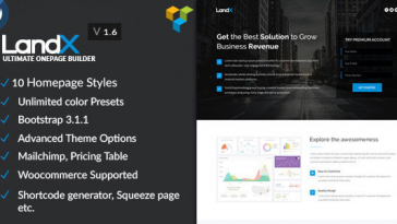 Download LandX - Multipurpose Wordpress Landing Page Free