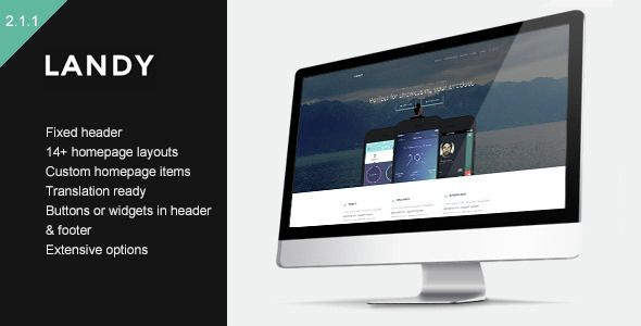 Download Landy - Clean & Sleek Landing Page Theme Free