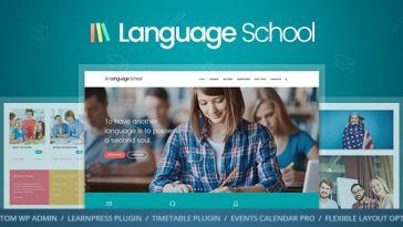 Download Language School v.1.0.3 - Courses & Learning Management System Education WordPress Theme Free