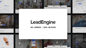 Download LeadEngine v.5.5.2 - Multi-Purpose WordPress Theme with Page Builder Free