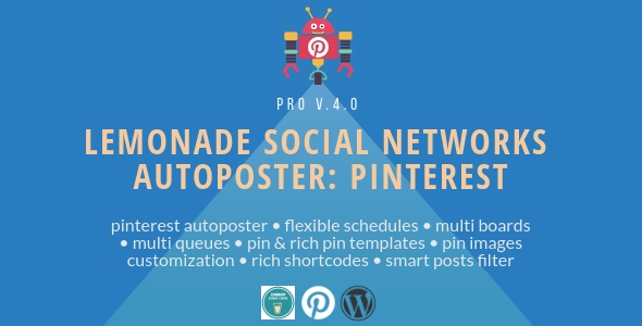 Download Lemonade Social Networks Autoposter: Pinterest PRO   – Free WordPress Plugin